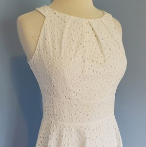 London Times White Eyelet Sundress